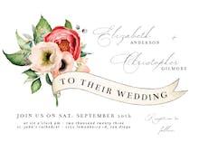 Flower Ribbon - Wedding Invitation