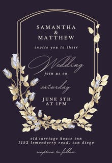 Flower Shield - Wedding Invitation