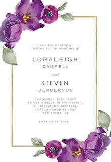 Flowers & Frame - Wedding Invitation