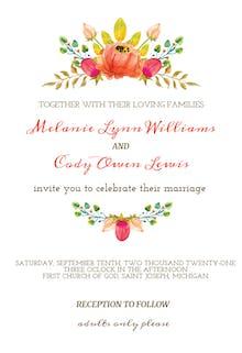 Flowers Crown - Wedding Invitation