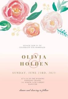 Flowers on Canvas - Wedding Invitation