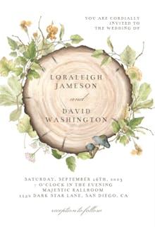 Forest Wreath - Wedding Invitation