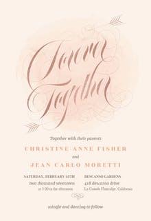 Forever Together - Wedding Invitation