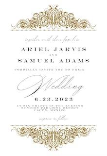 Formal Ornate - Wedding Invitation