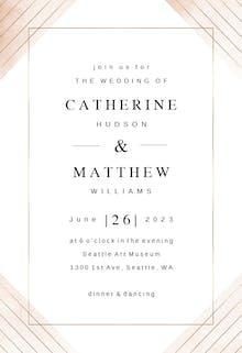 Frame & lines - Wedding Invitation