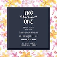 Garden Floral Frame - Wedding Invitation