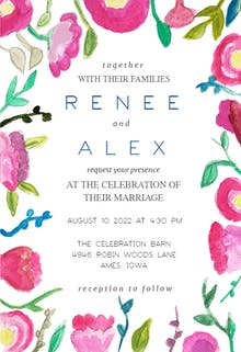 Garden Flowers - Wedding Invitation
