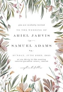 Garden frame - Wedding Invitation