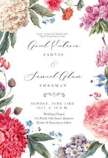 Garden Glory - Invitación De Boda