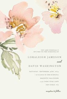 Garden roses - Wedding Invitation