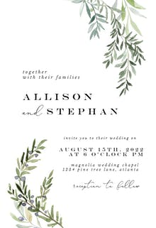 Gardens of Delphi - Wedding Invitation