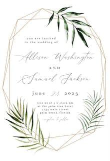 Geometric Palms - Wedding Invitation