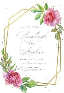 Geometric roses - Wedding Invitation