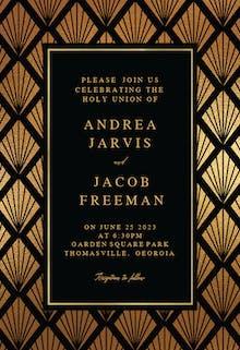 Geometric shells - Wedding Invitation