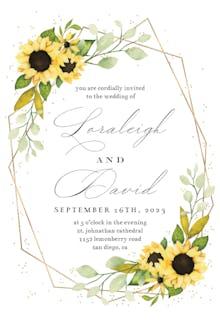 Geometric Sunflowers - Wedding Invitation