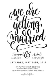 Getting married - Wedding Invitation