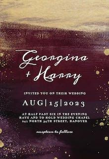 Gilded Aubergine - Wedding Invitation