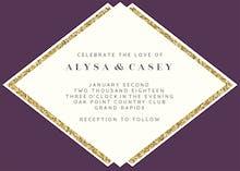 Glam Gold - Wedding Invitation
