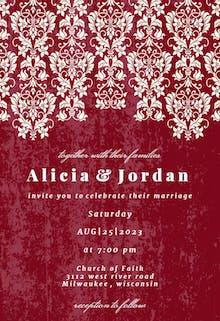 Glamor Lace - Wedding Invitation