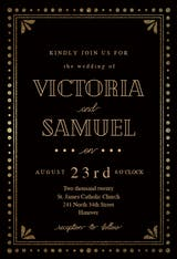 Gold & Black - Wedding Invitation