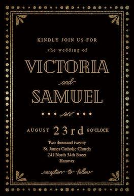 Gold & Black - Wedding Invitation