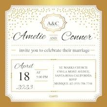 Gold Elegant - Wedding Invitation