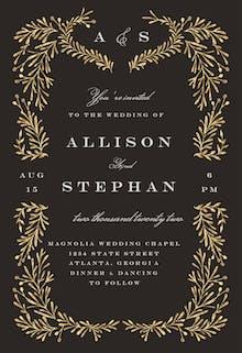 Gold Leaf - Wedding Invitation