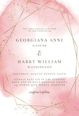 Gold polygon - Wedding Invitation