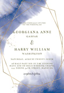 Gold polygon - Wedding Invitation