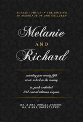 Golden Black - Wedding Invitation Template