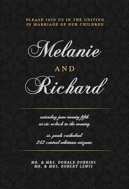 Golden Black - Wedding Invitation