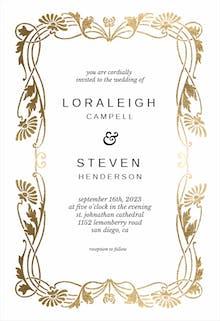 Golden Frame - Wedding Invitation