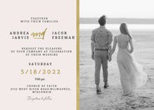 Golden line - Wedding Invitation