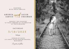 Golden line - Wedding Invitation
