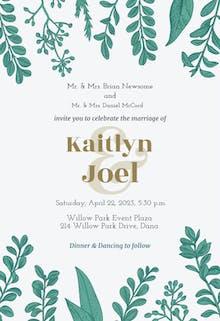 Graceful Greenery - Wedding Invitation