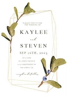 Greenery Blueberry Frame - Wedding Invitation