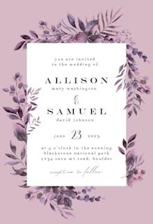 Greenery Border - Wedding Invitation