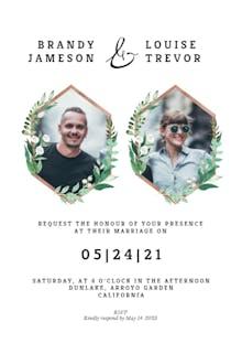 Greenery double photo - Wedding Invitation