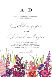 Hand Painted Floral - Wedding Invitation