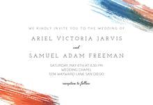 Hand Painted - Wedding Invitation