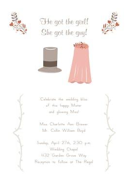 He Got She Got - Wedding Invitation
