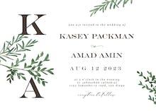 Herbs - Wedding Invitation