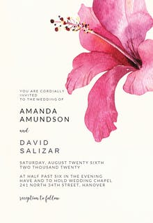 Hibiscus - Wedding Invitation