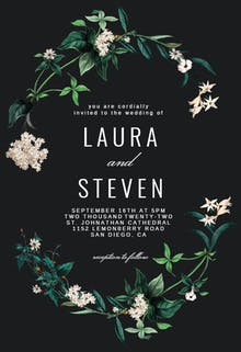 Hydrangea - Wedding Invitation