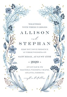 Iced Flowers Frame - Wedding Invitation