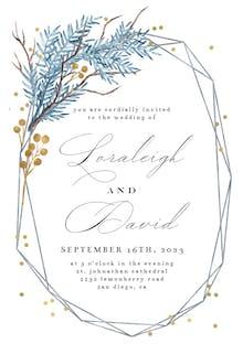Iced Frame - Wedding Invitation