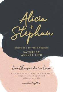 Imaginary abstract blush - Wedding Invitation