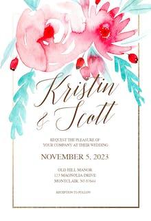 In bloom - Wedding Invitation