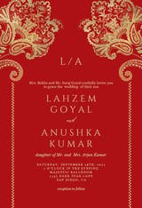 Indian floral & frame - Wedding Invitation