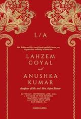 Indian floral & frame - Invitación De Boda